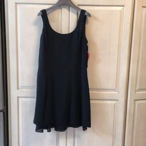 Ladies summer sleeve less mini dress in black 14